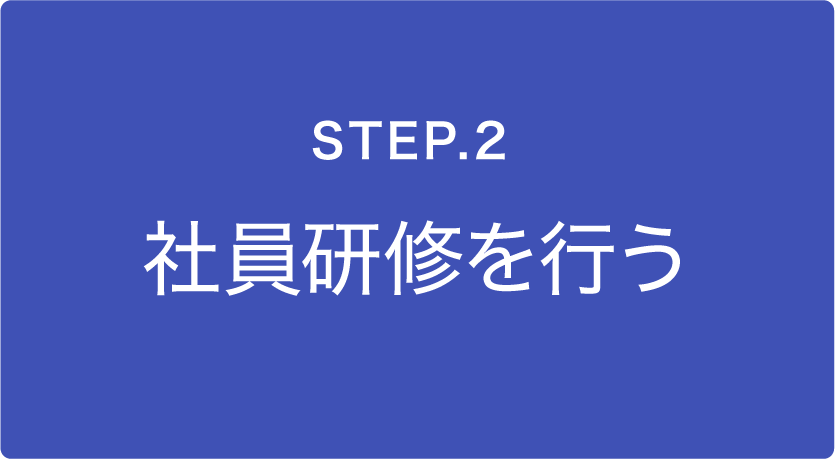 STEP.1 社員研修を行う
